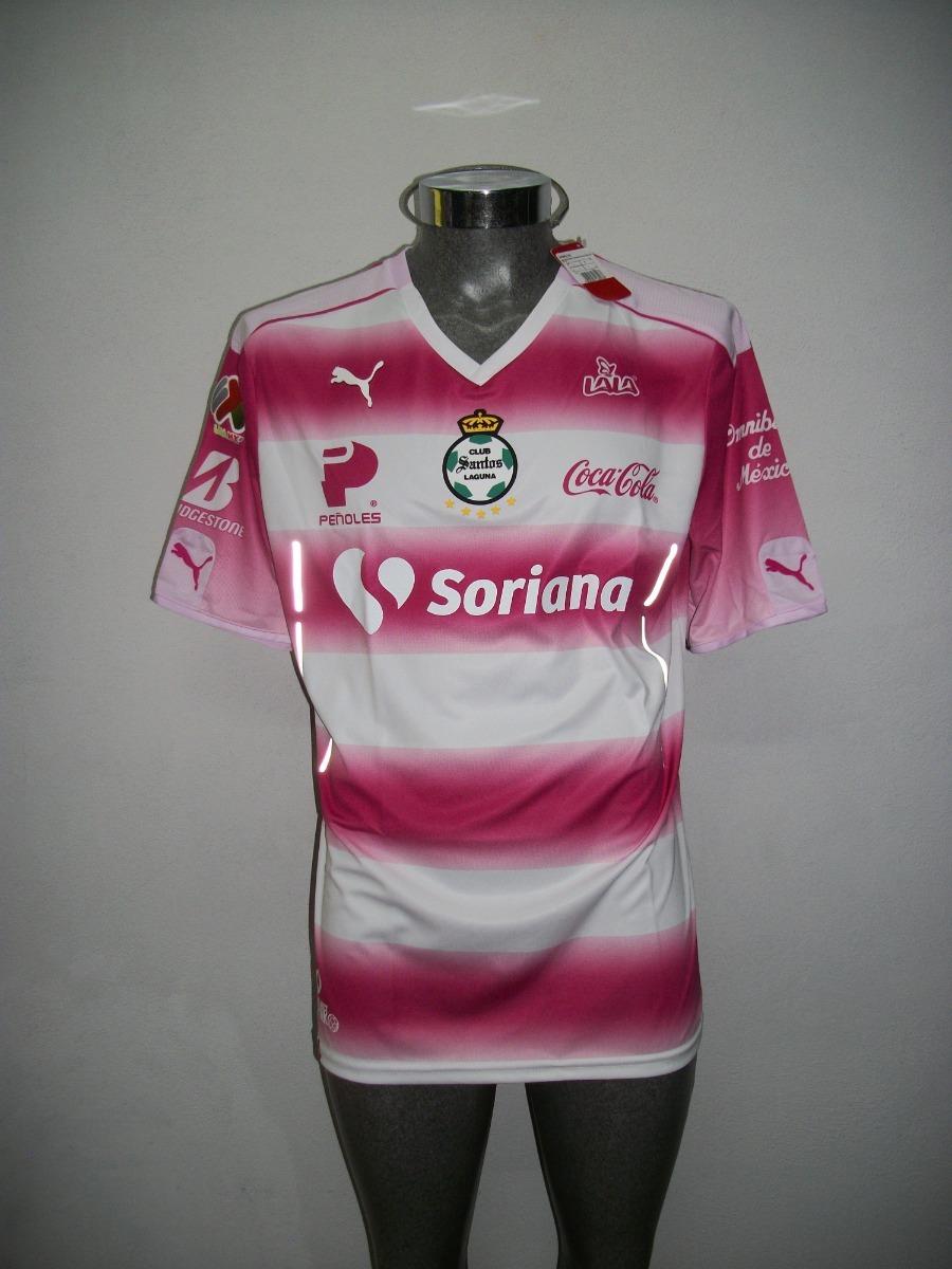 best service e3712 90376 Jersey Original Puma Santos Laguna Project Pink Rosa 2016