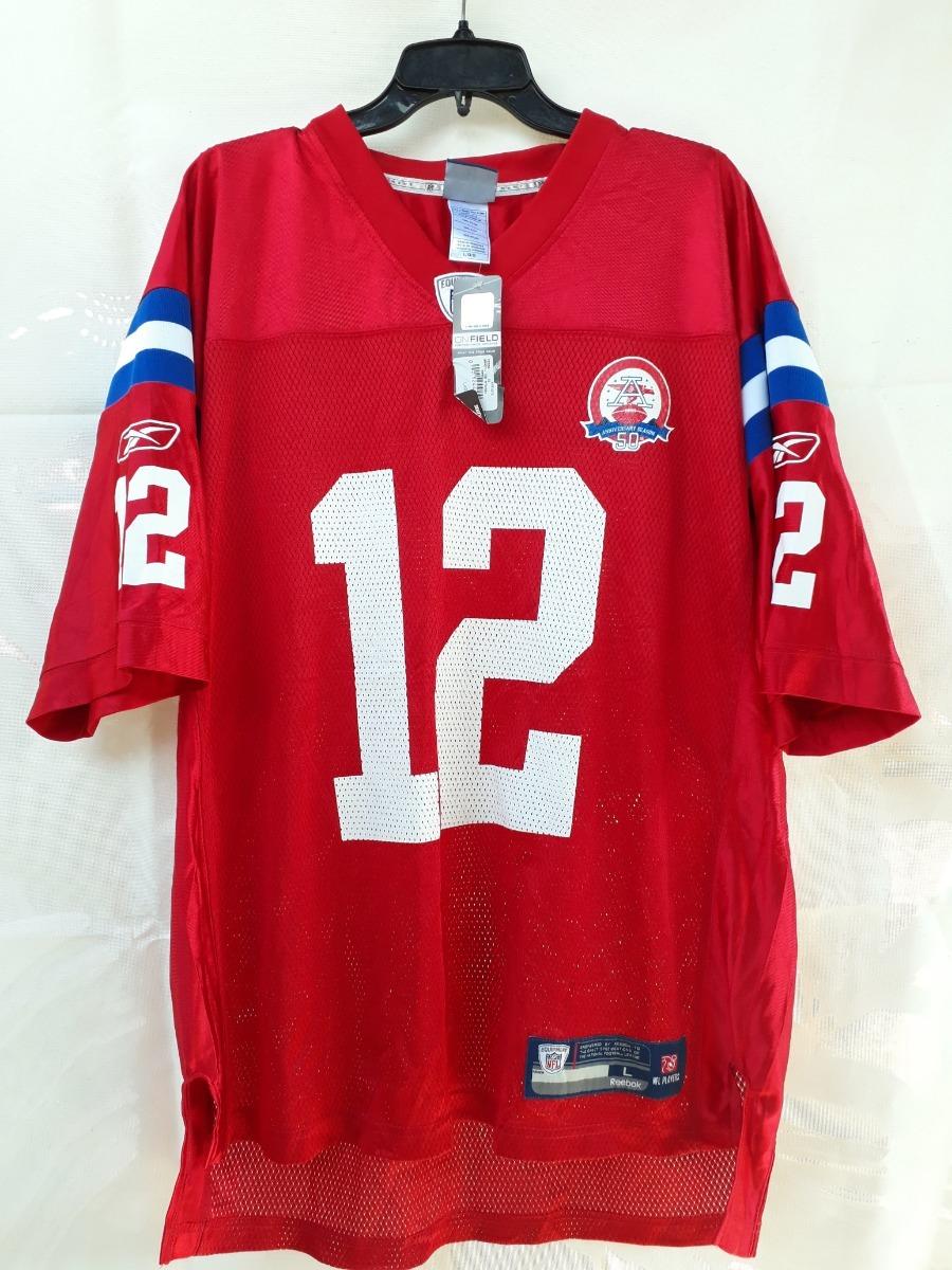 newest 3de5e 1bd84 Jersey Patriotas Tom Brady Nfl Retro 50 Aniversario Reebok