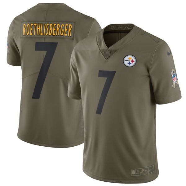 Jersey Pittsburgh Steelers Salute To Service Roethlisberger ... 29266cded6b9