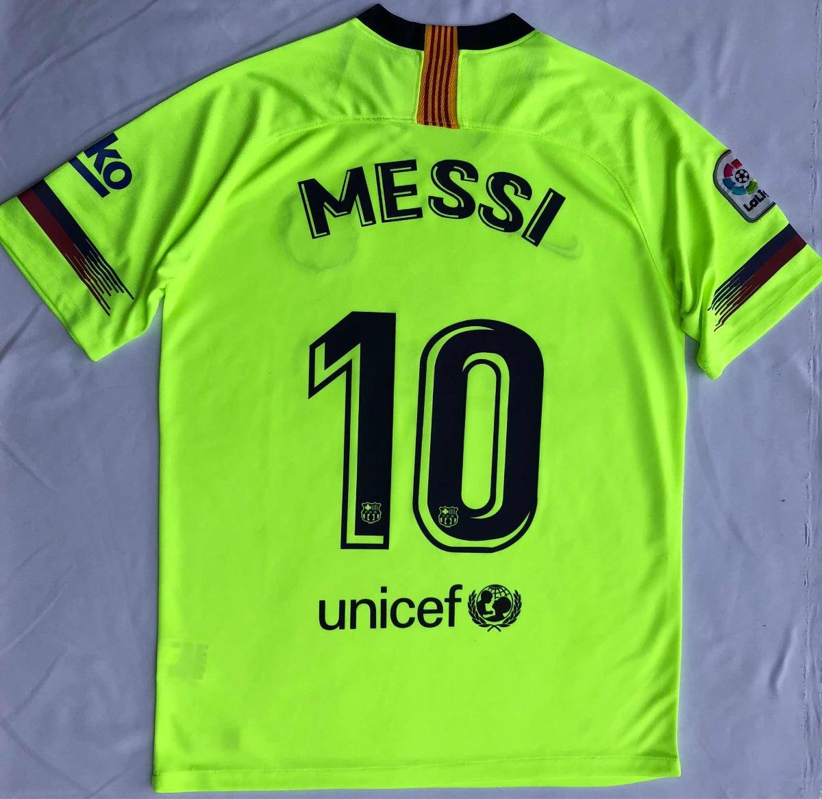 Jersey Playera Fc Barcelona Visita Messi 2018-2019 -   659.00 en ... e46b0978193