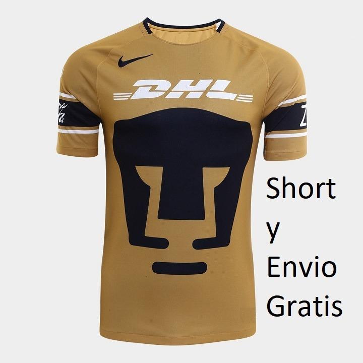 Jersey Playera Pumas Unam 2018 Niño Short Incluido -   399.00 en ... 089a81d3573