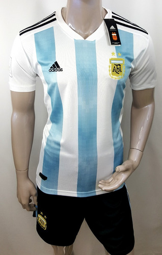 jersey playera + short argentina nuevo