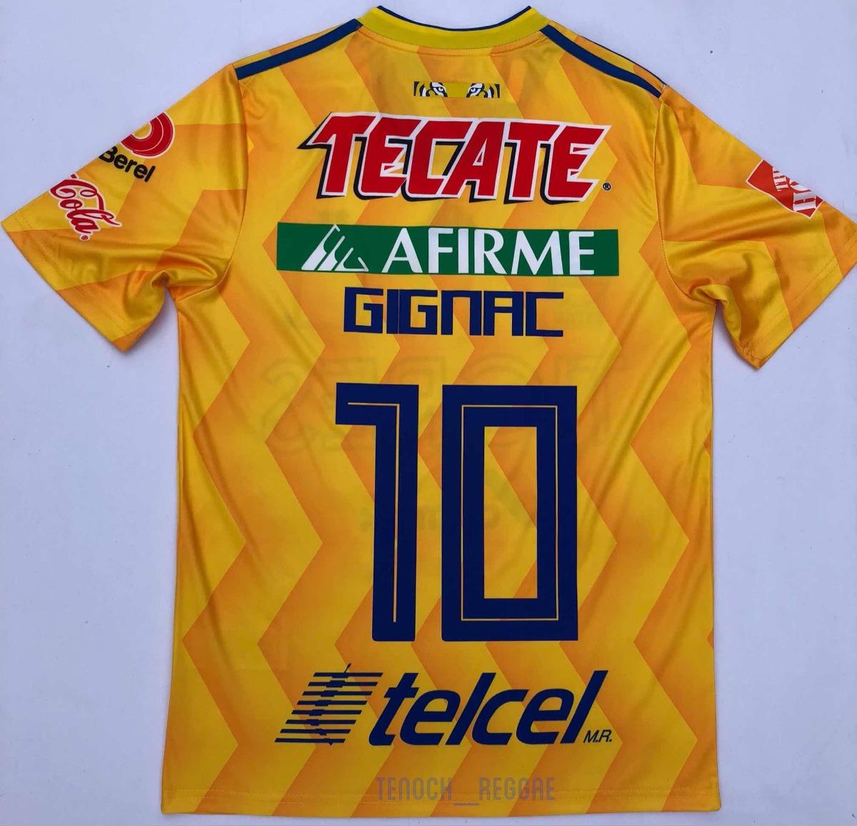 9f5bda6431ca9 Jersey Playera Tigres Uanl Local A. Gignac 2018 2019 -   679.00 en ...