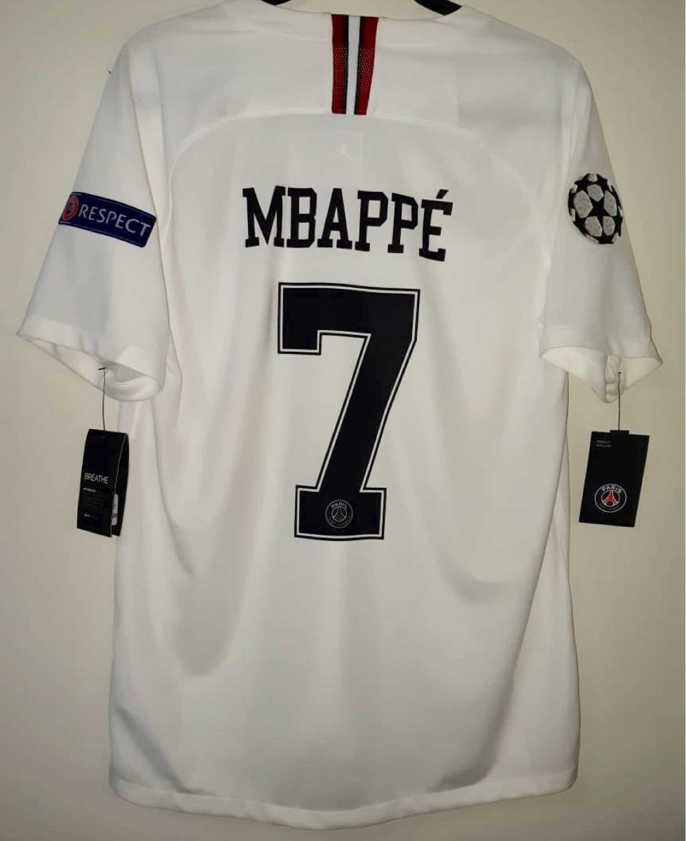 best loved 51b37 5509d Jersey Psg Paris Jordan Champions League Mbappé 7