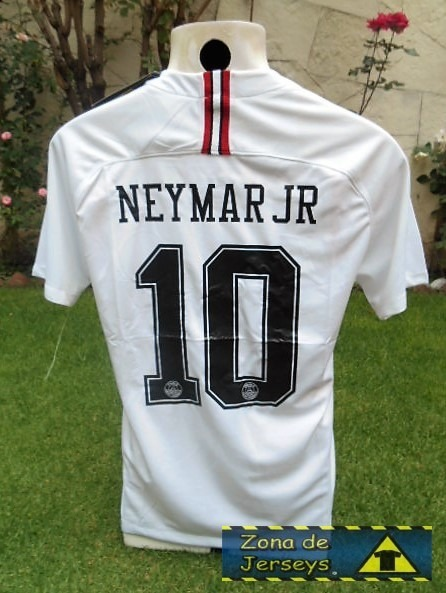 cheap for discount b1f1f a9939 Jersey Psg Paris Saint Germain Jordan Blanca Neymar Jr 10