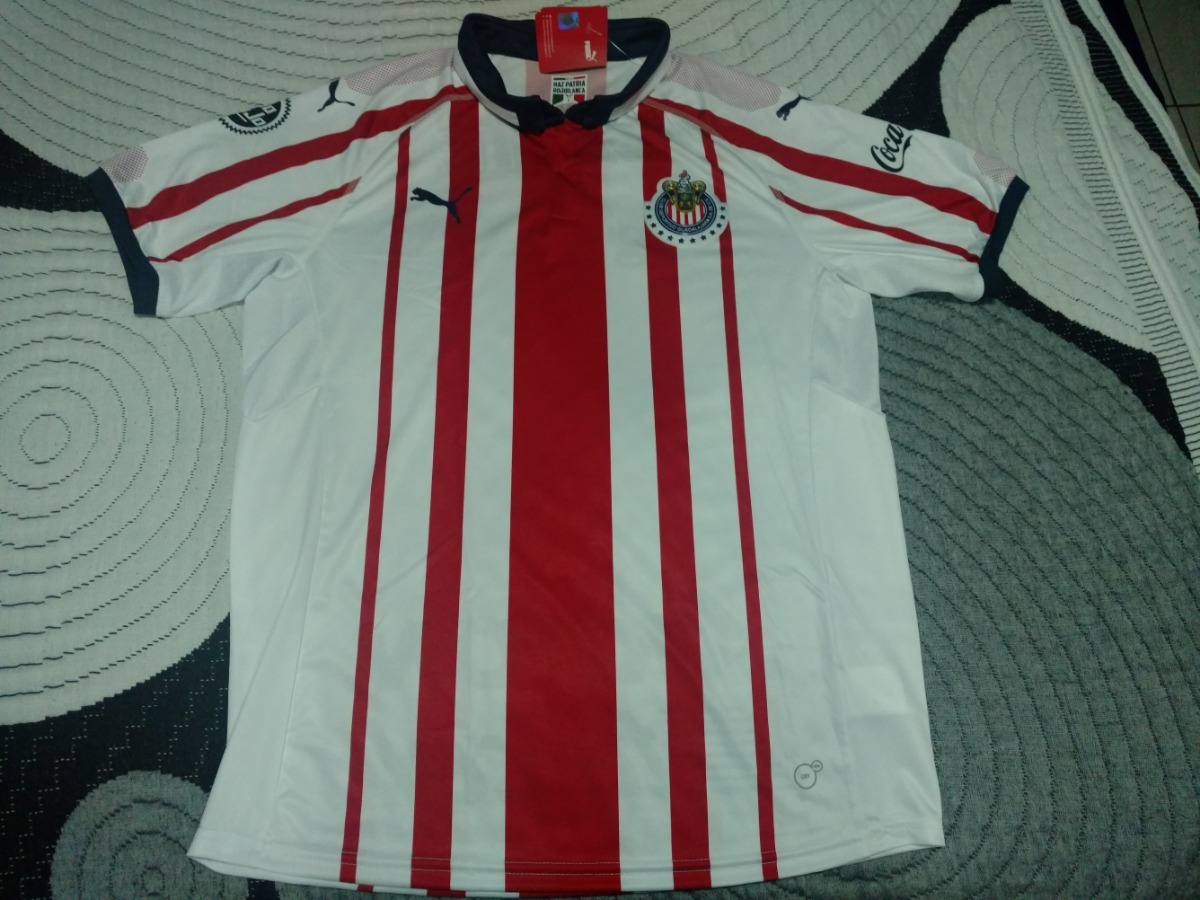31b9288417e Jersey Puma Chivas Casa 18/19 Original - $ 500.00 en Mercado Libre