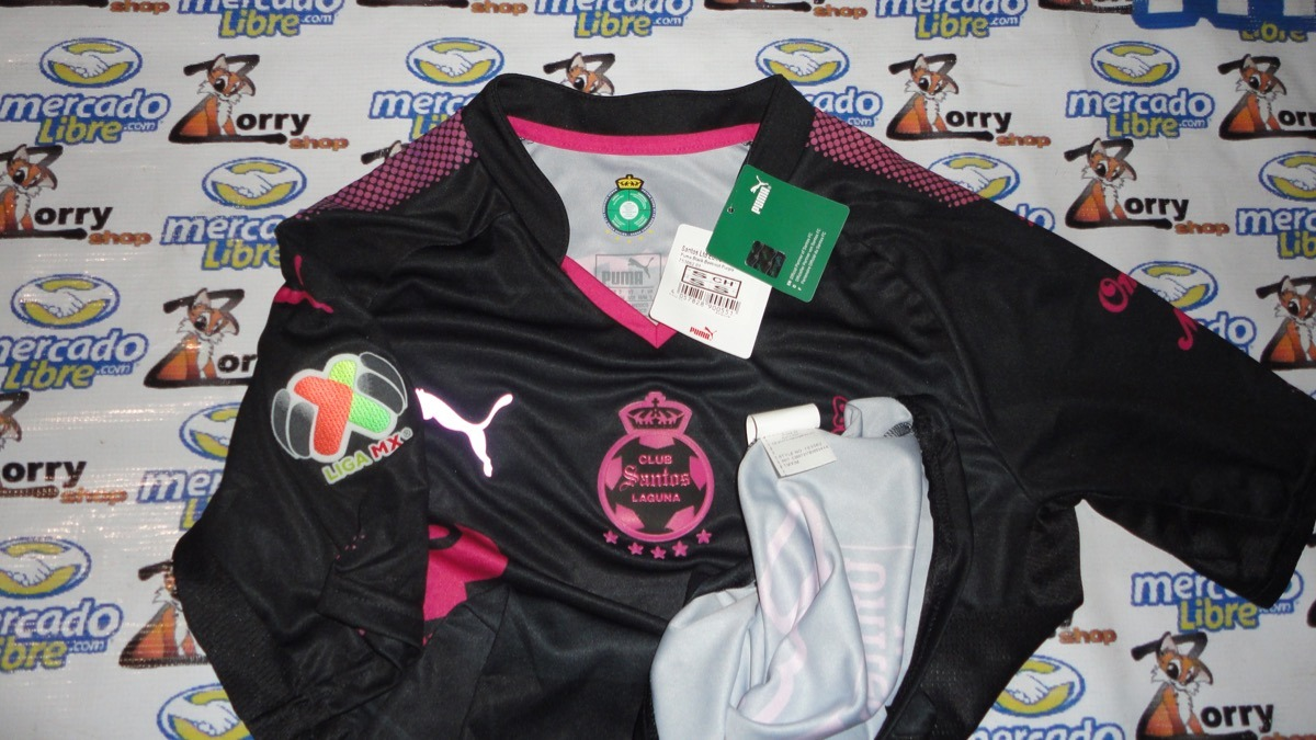 wholesale dealer 02090 0eb72 Jersey Puma Santos Laguna Pink Project Negro Y Rosa