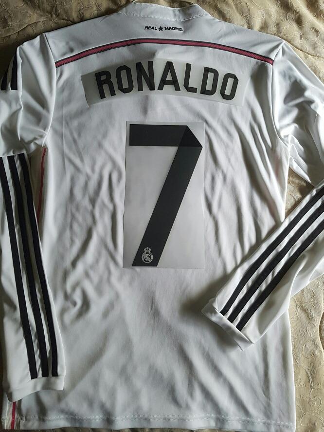 hot sale online 44d8f c6b77 Jersey Real Madrid 2013-14 Ronaldo Manga Larga