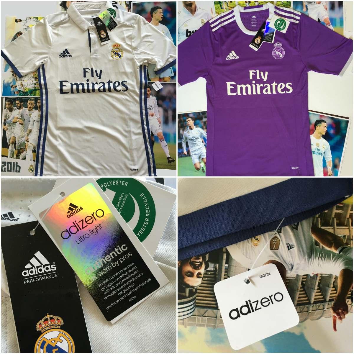 Jersey Real Madrid 2016-2017 Adizero Violeta Y Blanca -   599.99 en ... f2be53d251e59