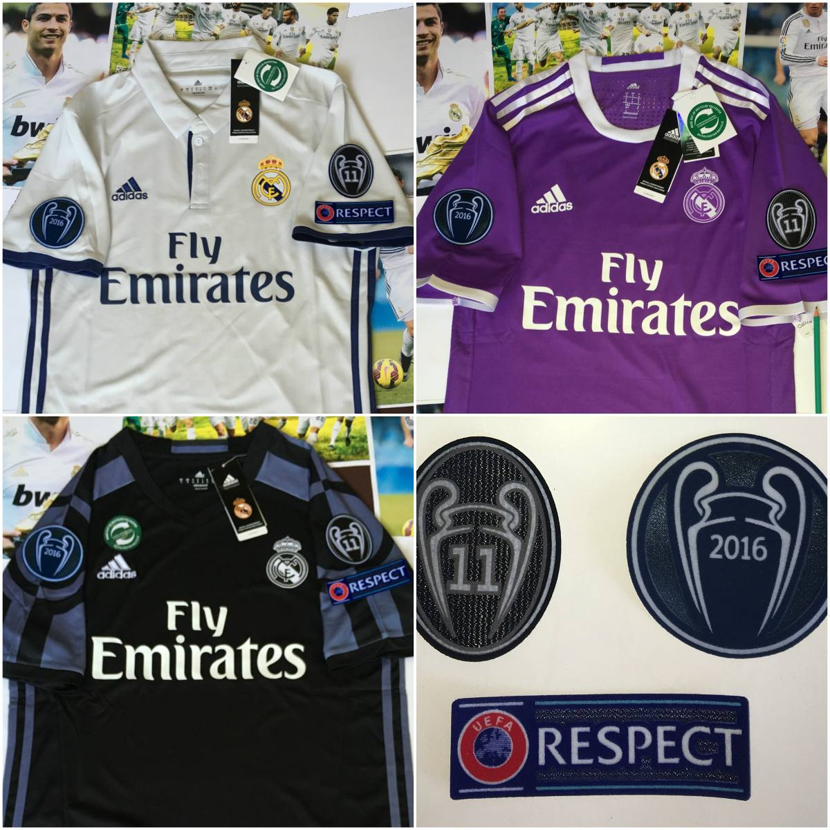 jersey real madrid 2016-2017 climacool champions league uefa. Cargando zoom. a2967464eb181