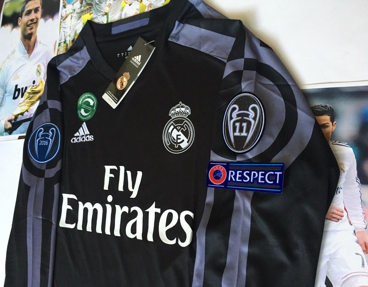jersey real madrid 2016-2017 manga larga champions league. Cargando zoom. 4ba0497501380