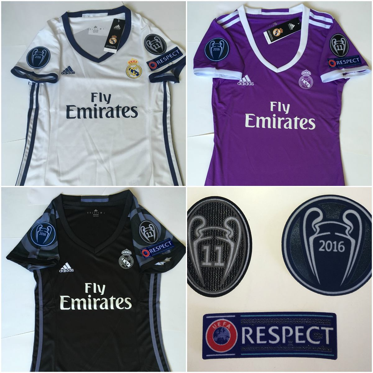 Jersey Real Madrid 2016-2017 Mujer Champions League -   650.00 en ... 260d055f1f1f7