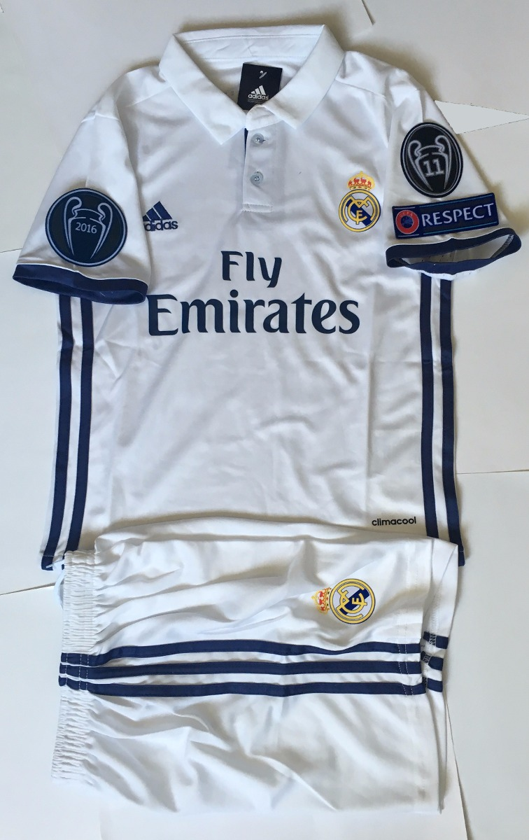 84fe03e61a856 Jersey Real Madrid 2016-2017 Niño Champions League -   650.00 en ...