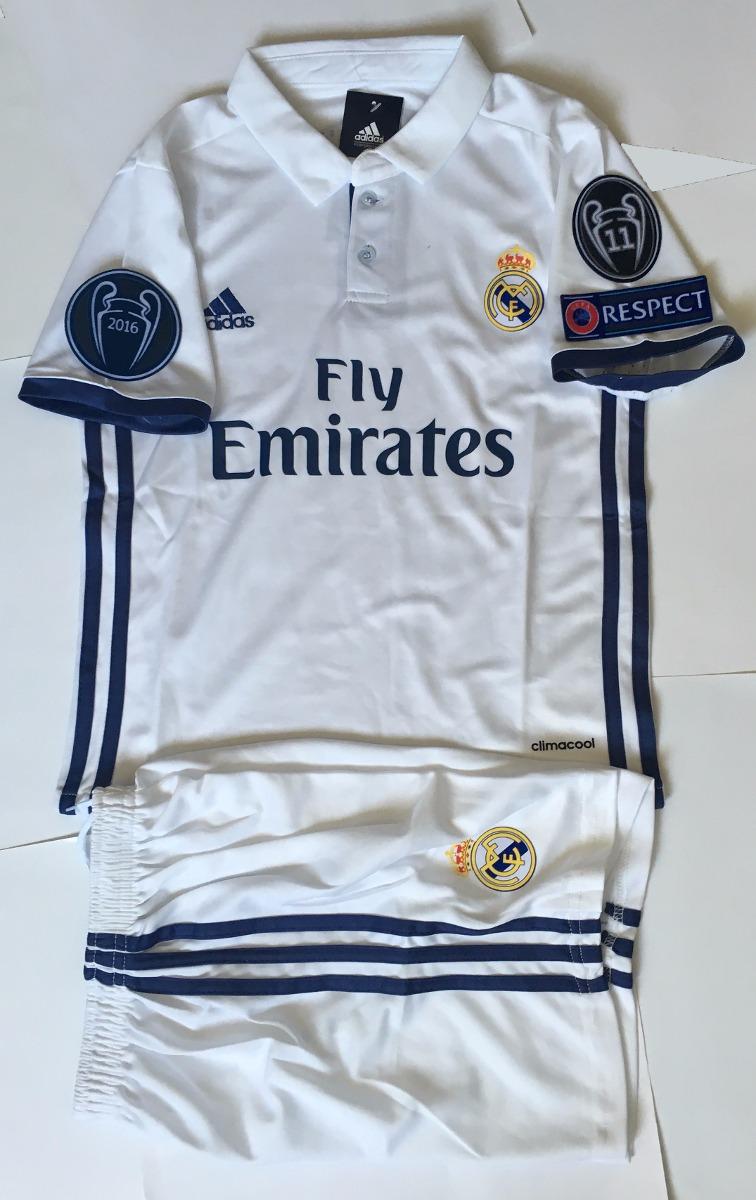 32f47504faee1 Jersey Real Madrid 2016-2017 Niño Champions League -   650.00 en ...