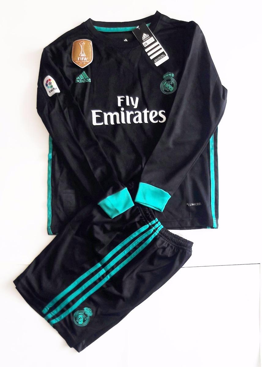 78a995200b4f5 Jersey Playera Real Madrid Visita Para Niño Manga Larga -   590.00 ...