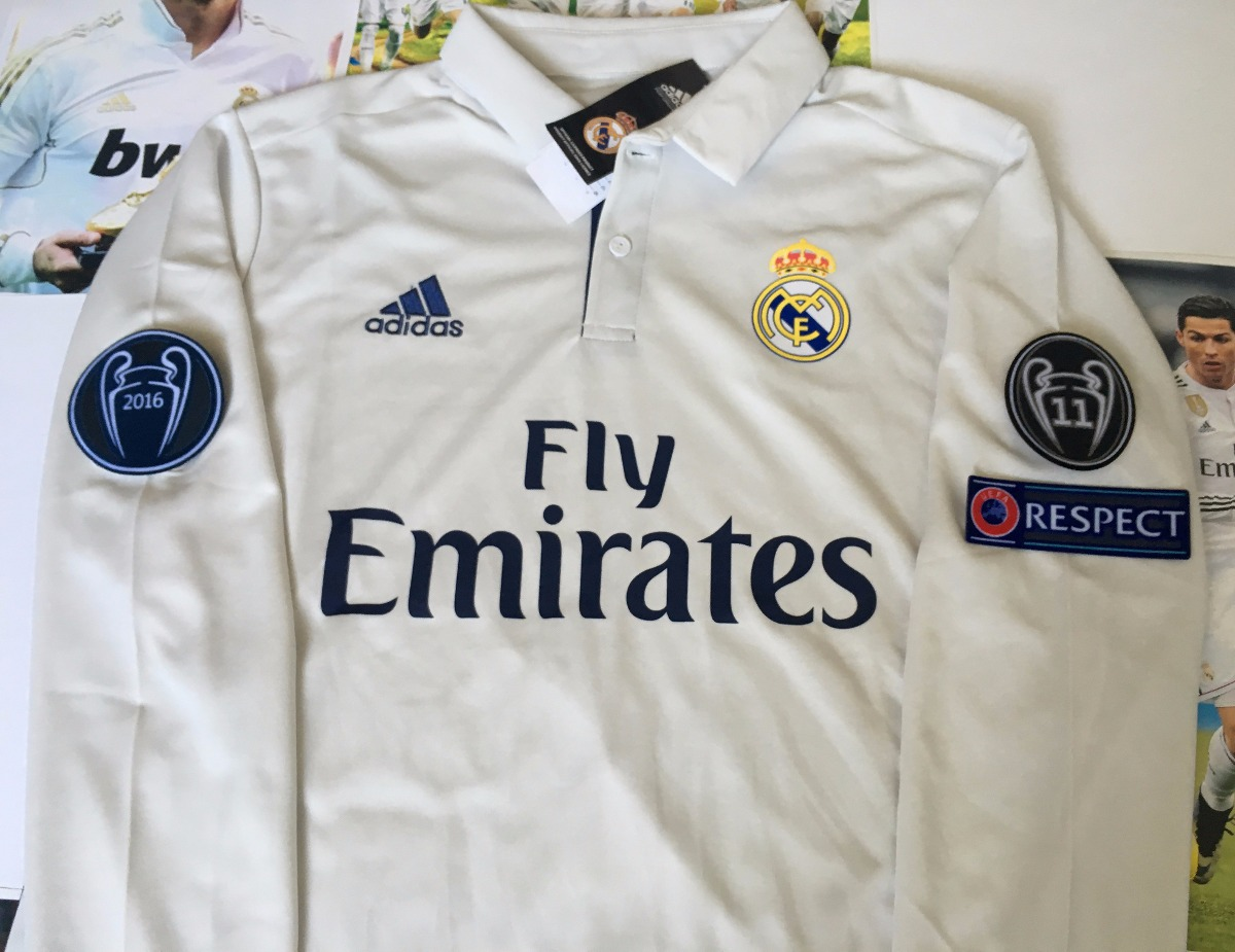 Jersey Real Madrid 2016-2017 Manga Larga Champions League -   400.00 ... 25145cfae2dfc