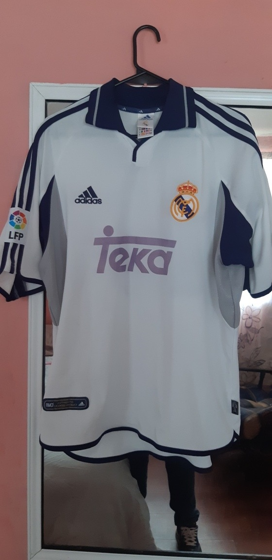 check out 1477a b4bdb Jersey Real Madrid adidas 2000 Teka Epoca Figo Talla M - $ 450.00