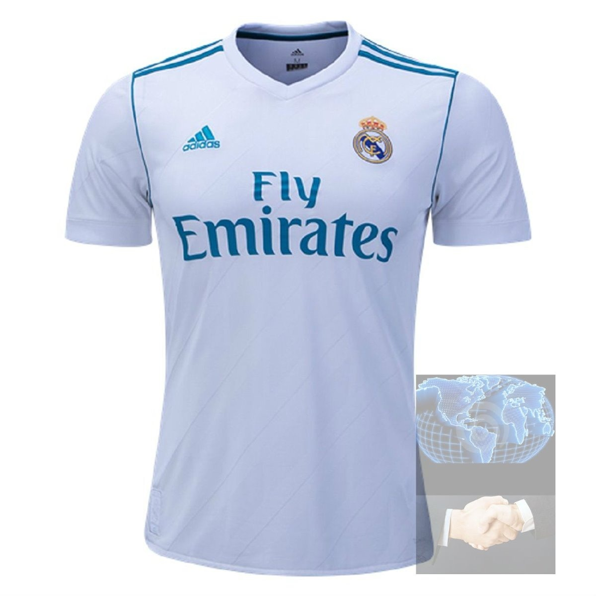 98ac25c56e24a Jersey Real Madrid Blanca adidas Local Nueva 2018 Playera -   479.00 ...