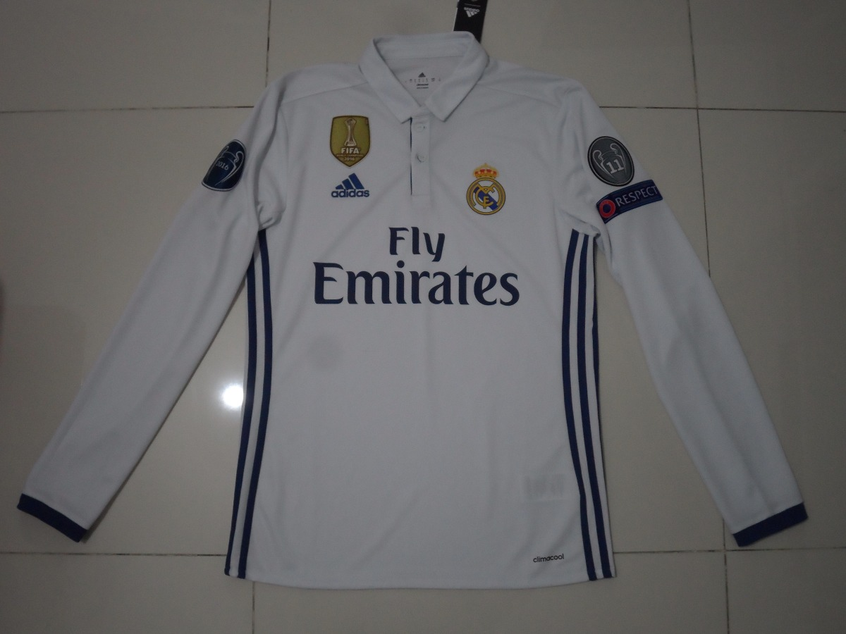 0037ad784413e jersey real madrid champions league original en manga larga. Cargando zoom.