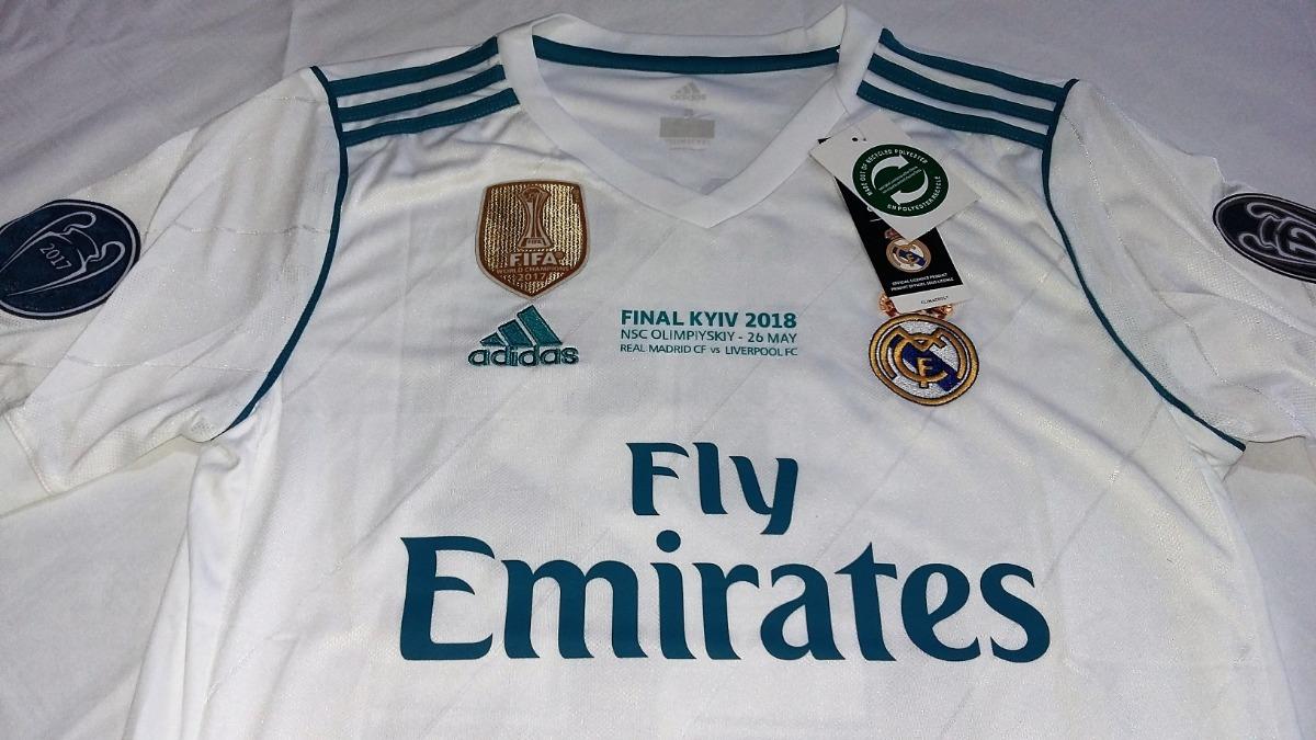 Jersey Real Madrid Edición Final Champions League Mangacorta ... 90ae7b0feb5e0