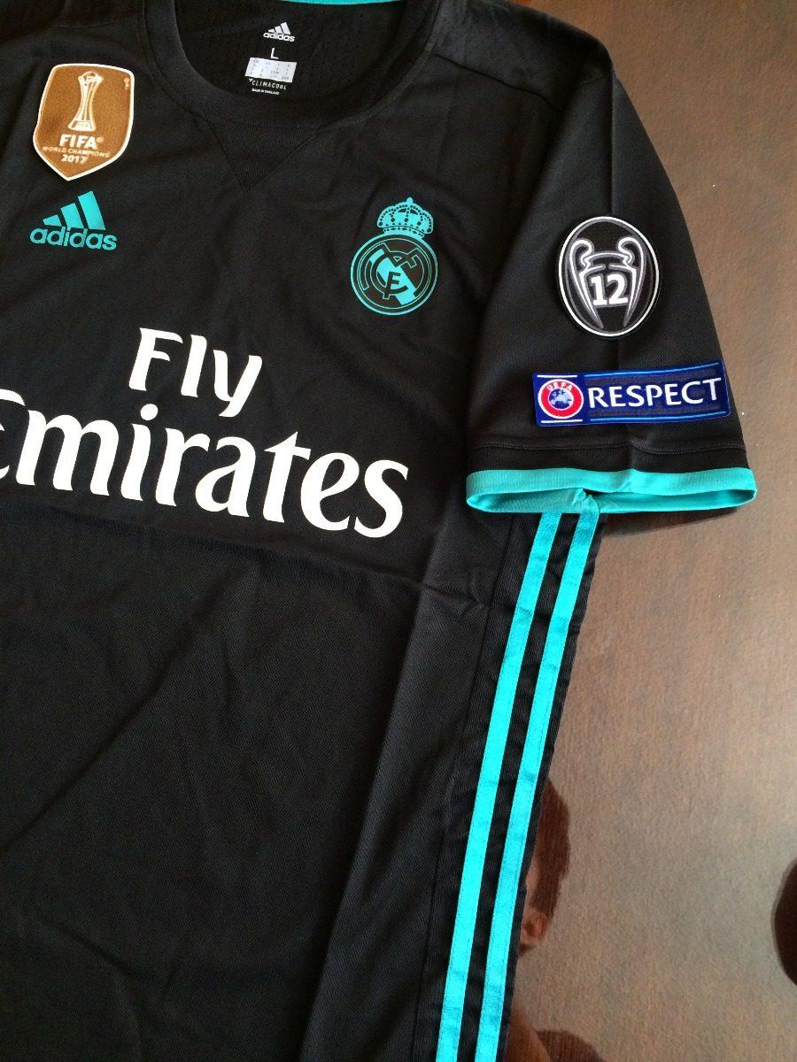 Jersey Real Madrid Visita Champions League 2018-2017 -   659.00 en ... 23fa04561d931