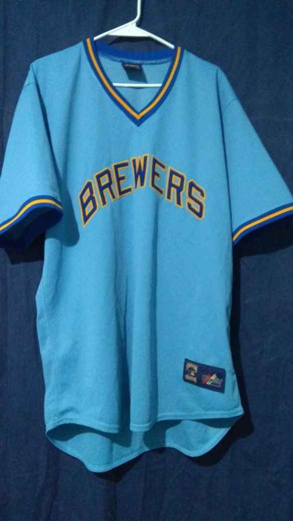 new style d1454 17501 Jersey Retro Cerveceros Milwaukee No Yankees Redsox Boston - $ 900.00