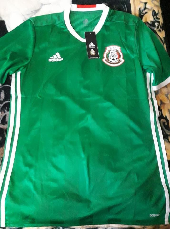 a7ab258d31e8f Cargando zoom... seleccion mexico jersey. Cargando zoom... jersey seleccion  mexico verde local adizero 2015 16 17