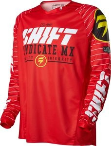 jersey shift strike 2016 mx/offroad hombre rojo/negro/bco sm
