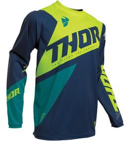 2020 Thor Pulse Pinner Jersey Jersey Amarillo MX Motocross Cross Enduro DH BMX MTB