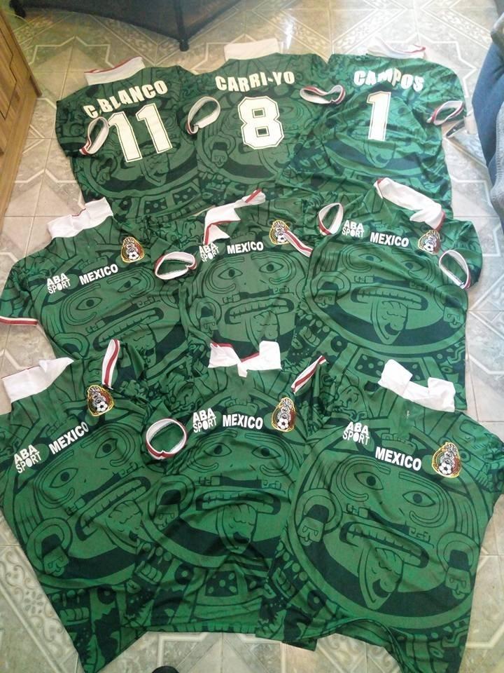 Jersey Verde México 98  -   500.00 en Mercado Libre f2a36de3091cf