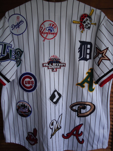 jersey vintage 2003 all star game baseball talla 2 xl bordad