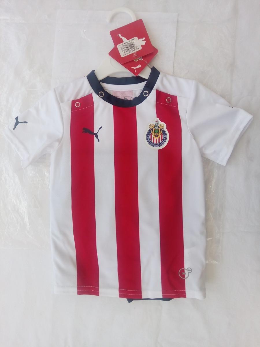 516d9beb9 Jersey Y Short Chivas Original Marca Puma Bebe 3 A 18 Meses ...