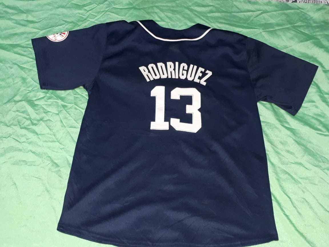 super popular 47bc1 bbcec Jersey Yankees Ny Azul 13 Rodriguez - $ 500.00