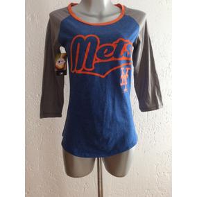 ce7f127a4161e Playera Blusa New York Mets Dama Mujer Mlb Producto Oficial