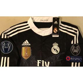 8fb1172c110b5 Camiseta Real Madrid Manga Larga - Jerseys Clubes Europeos Clubes Españoles Real  Madrid en Mercado Libre México
