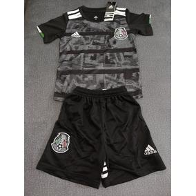 82664a46a80a8 Jersey Playera Uniforme Mexico Copa Oro Niño 2019 Lozano