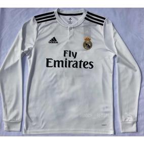 48413780e90d2 Camiseta Real Madrid Manga Larga - Jerseys Clubes Europeos Clubes Españoles Real  Madrid en Mercado Libre México