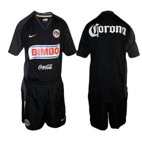 f9a5bba70d2fd Kit Jersey Negro Plumas America Nike 07 08 Época Memo Ochoa