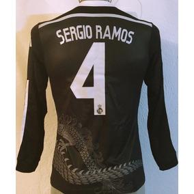 a57d2df3e8a20 Camiseta Real Madrid Manga Larga - Uniformes de Fútbol en Mercado Libre  México