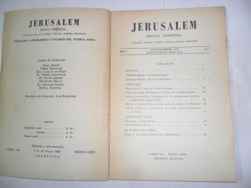 jerusalem 1953 consejo central sionista argentino nº1 arcavi