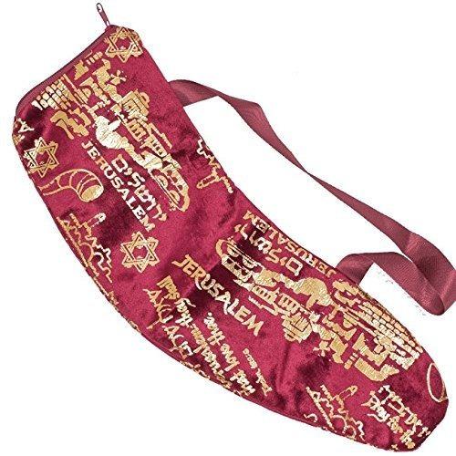 jerusalem small shofar bag, burgundy