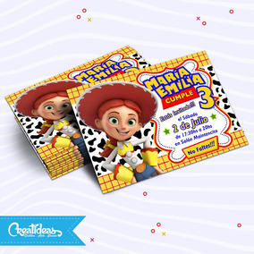Jessi Toy Story Tarjetas Invitaciones Infantil Personalizada