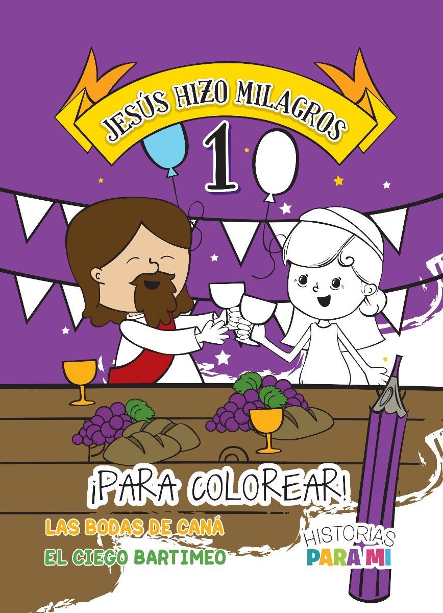 Jesús Hizo Milagros 1 · Para Colorear - $ 89,00 en Mercado Libre
