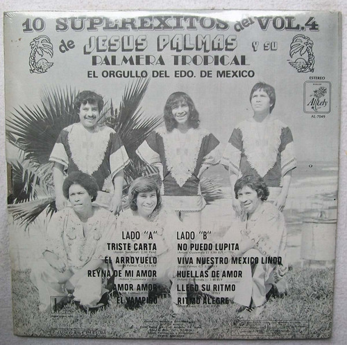 jesus palmas y su palmera tropical. vol. 4 disco lp  alhely