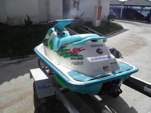 jet ski sea doo bombardier - spx 1995 com carreta rodoviária