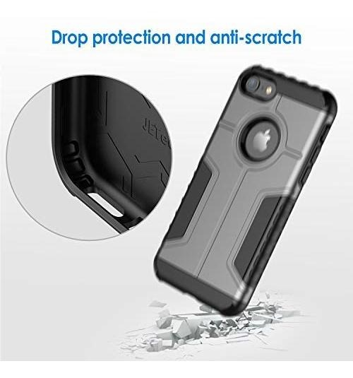 Carcasa Protectora de Doble Capa Absorci/ón de Choque Plata JETech Funda iPhone 8 y iPhone 7