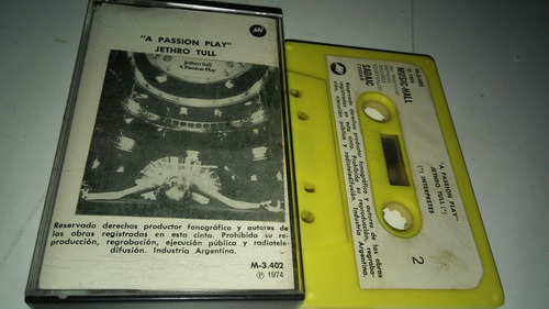 jethro tull a passion play cassette