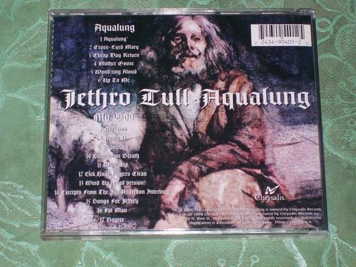 jethro tull - cd aqualung importado (pink floyd, yes)