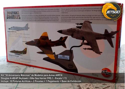jetsgo - kit airfix 30 años malvinas - harrier + a-4 skyhawk