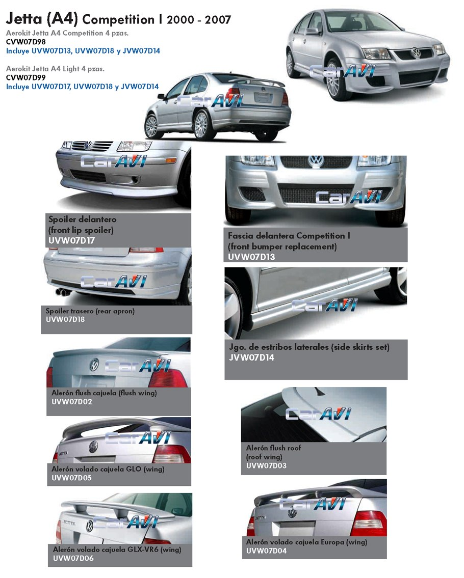 Jetta A4 2007 Al 2000 Fascia Delantera Modificada Oficial